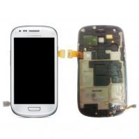 החלפת מסך LCD+מגע מקוריים Samsung Galaxy S3 Mini כולל מסגרת