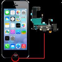 החלפת שקע טעינה Apple iPhone 5