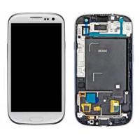 החלפת מסך LCD+מגע מקוריים Samsung Galaxy S3 כולל מסגרת